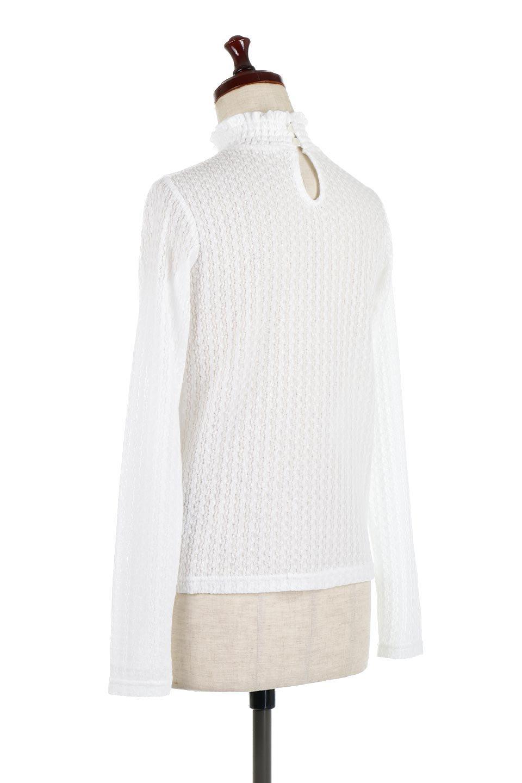 LaceHighNeckTop模様編み・ハイネックトップス大人カジュアルに最適な海外ファッションのothers(その他インポートアイテム)のトップスやカットソー。大人っぽい着こなしができる模様編みのハイネックトップス。ストレッチ性のある生地で動きやすさも抜群です。/main-8