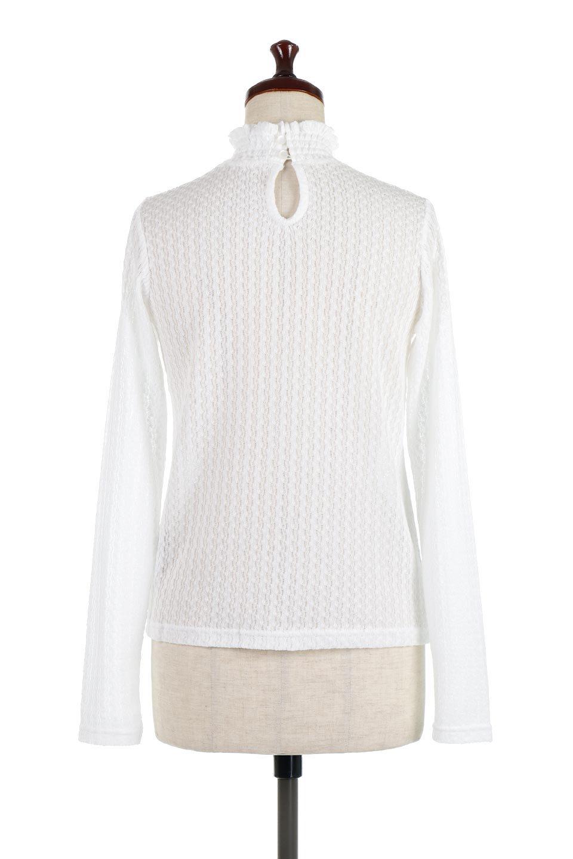 LaceHighNeckTop模様編み・ハイネックトップス大人カジュアルに最適な海外ファッションのothers(その他インポートアイテム)のトップスやカットソー。大人っぽい着こなしができる模様編みのハイネックトップス。ストレッチ性のある生地で動きやすさも抜群です。/main-9