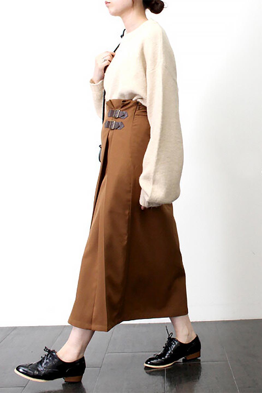 DoubleBeltedDeepTuckSkirtダブルベルト・タックスカート大人カジュアルに最適な海外ファッションのothers(その他インポートアイテム)のボトムやスカート。着まわしやすさ抜群のダックスカート。ウエストのダブルベルトがアクセントのロング丈。/main-28