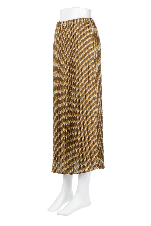 CheckPanelPleatedSkirtバイアス切換え・プリーツスカート大人カジュアルに最適な海外ファッションのothers(その他インポートアイテム)のボトムやスカート。トレンドのプリーツアイテムをチェック柄とMIXさせた可愛いスカート。チェックの記事はバイアス(斜め)に切り替えて表情豊かな仕上がりになっていますレトロな雰囲気も感じるおすすめのスカートです。/main-1
