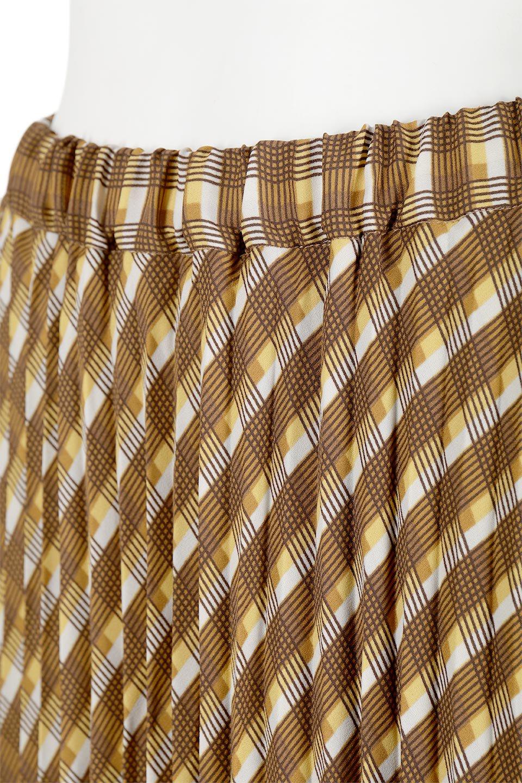 CheckPanelPleatedSkirtバイアス切換え・プリーツスカート大人カジュアルに最適な海外ファッションのothers(その他インポートアイテム)のボトムやスカート。トレンドのプリーツアイテムをチェック柄とMIXさせた可愛いスカート。チェックの記事はバイアス(斜め)に切り替えて表情豊かな仕上がりになっていますレトロな雰囲気も感じるおすすめのスカートです。/main-12