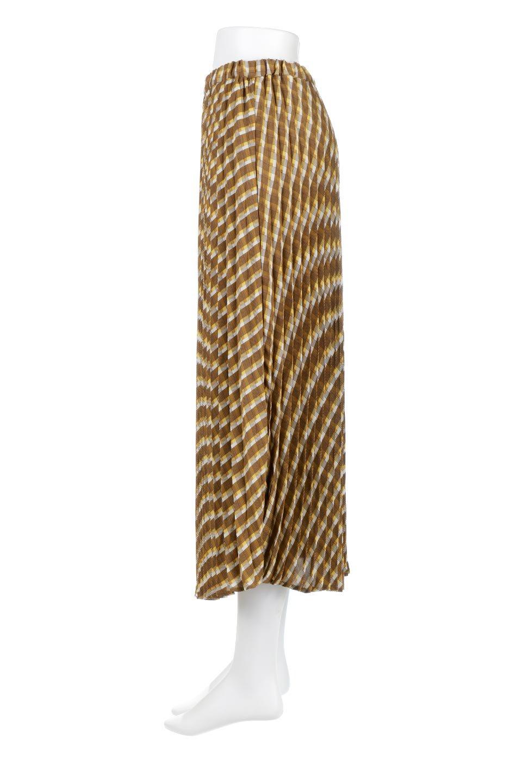 CheckPanelPleatedSkirtバイアス切換え・プリーツスカート大人カジュアルに最適な海外ファッションのothers(その他インポートアイテム)のボトムやスカート。トレンドのプリーツアイテムをチェック柄とMIXさせた可愛いスカート。チェックの記事はバイアス(斜め)に切り替えて表情豊かな仕上がりになっていますレトロな雰囲気も感じるおすすめのスカートです。/main-2