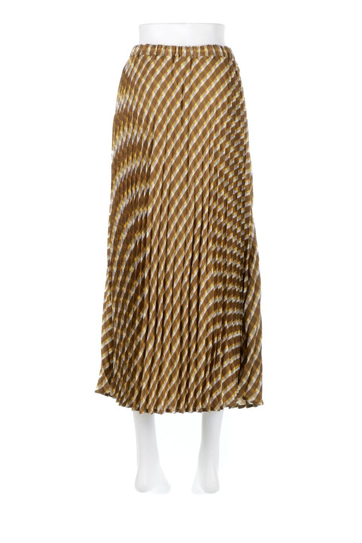 CheckPanelPleatedSkirtバイアス切換え・プリーツスカート大人カジュアルに最適な海外ファッションのothers(その他インポートアイテム)のボトムやスカート。トレンドのプリーツアイテムをチェック柄とMIXさせた可愛いスカート。チェックの記事はバイアス(斜め)に切り替えて表情豊かな仕上がりになっていますレトロな雰囲気も感じるおすすめのスカートです。/main-4