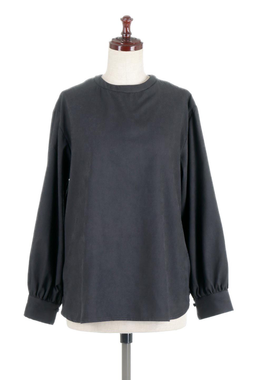 PeachFace2WayBlouseピーチフェイス加工・2Wayブラウス大人カジュアルに最適な海外ファッションのothers(その他インポートアイテム)のトップスやシャツ・ブラウス。前後どちらでも楽しめる2Wayタイプの長袖ブラウス。表面を起毛させたピーチフェイス加工で温もりのある肌触りです。/main-10