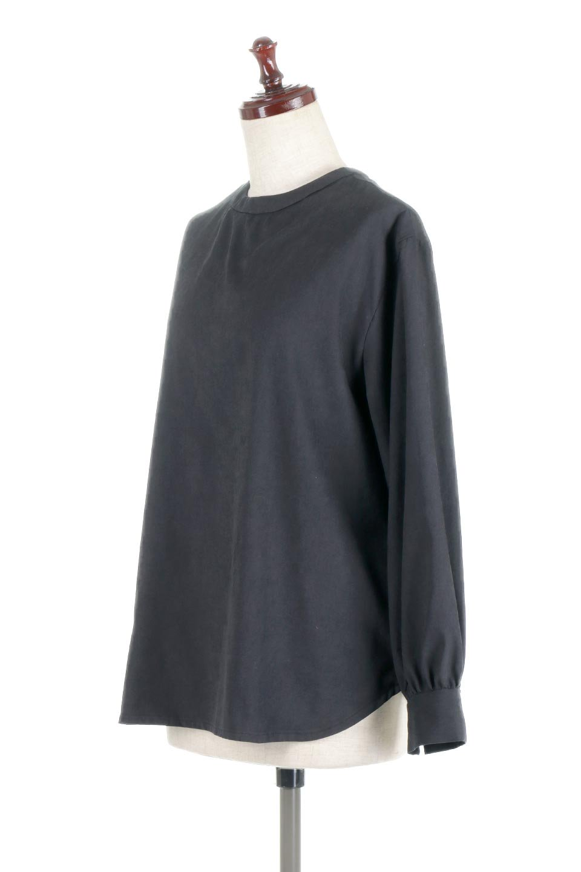 PeachFace2WayBlouseピーチフェイス加工・2Wayブラウス大人カジュアルに最適な海外ファッションのothers(その他インポートアイテム)のトップスやシャツ・ブラウス。前後どちらでも楽しめる2Wayタイプの長袖ブラウス。表面を起毛させたピーチフェイス加工で温もりのある肌触りです。/main-11