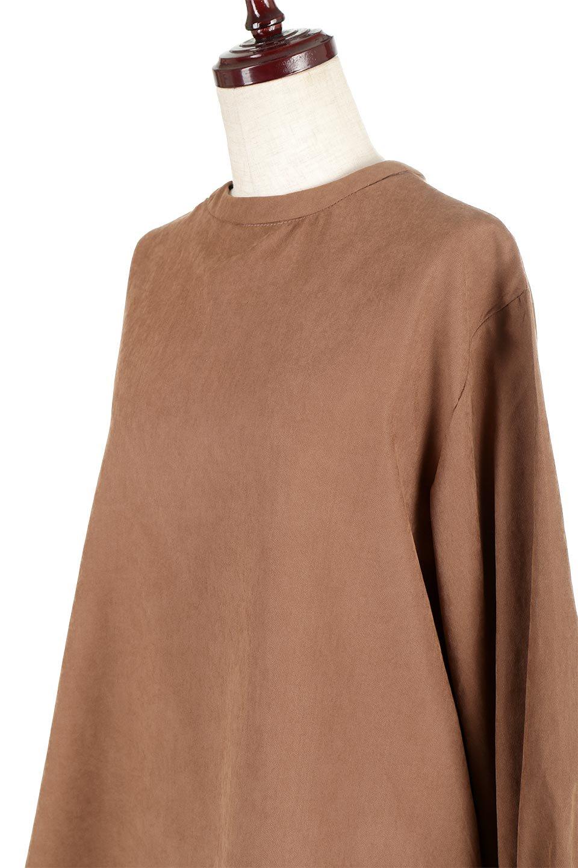 PeachFace2WayBlouseピーチフェイス加工・2Wayブラウス大人カジュアルに最適な海外ファッションのothers(その他インポートアイテム)のトップスやシャツ・ブラウス。前後どちらでも楽しめる2Wayタイプの長袖ブラウス。表面を起毛させたピーチフェイス加工で温もりのある肌触りです。/main-16