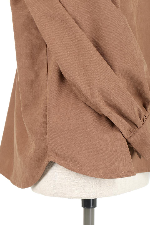 PeachFace2WayBlouseピーチフェイス加工・2Wayブラウス大人カジュアルに最適な海外ファッションのothers(その他インポートアイテム)のトップスやシャツ・ブラウス。前後どちらでも楽しめる2Wayタイプの長袖ブラウス。表面を起毛させたピーチフェイス加工で温もりのある肌触りです。/main-19