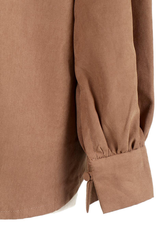 PeachFace2WayBlouseピーチフェイス加工・2Wayブラウス大人カジュアルに最適な海外ファッションのothers(その他インポートアイテム)のトップスやシャツ・ブラウス。前後どちらでも楽しめる2Wayタイプの長袖ブラウス。表面を起毛させたピーチフェイス加工で温もりのある肌触りです。/main-20