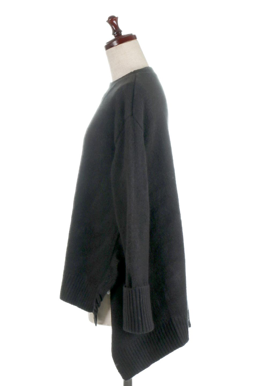 SideFrillKnitPullOverサイドフリル・ニットプルオーバー大人カジュアルに最適な海外ファッションのothers(その他インポートアイテム)のトップスやニット・セーター。キャッチーで可愛いフリルがアイコニックな雰囲気たっぷりのニットトップス。起毛素材のニットが優しい雰囲気で肌触りも◎袖口のリブの折り返し、サイドの大胆なスリット、フリルと可愛さがぎゅっと詰まったレディーライクな1枚です。/main-12
