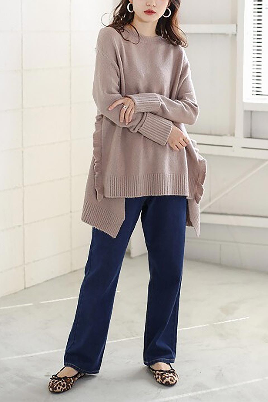 SideFrillKnitPullOverサイドフリル・ニットプルオーバー大人カジュアルに最適な海外ファッションのothers(その他インポートアイテム)のトップスやニット・セーター。キャッチーで可愛いフリルがアイコニックな雰囲気たっぷりのニットトップス。起毛素材のニットが優しい雰囲気で肌触りも◎袖口のリブの折り返し、サイドの大胆なスリット、フリルと可愛さがぎゅっと詰まったレディーライクな1枚です。/main-25