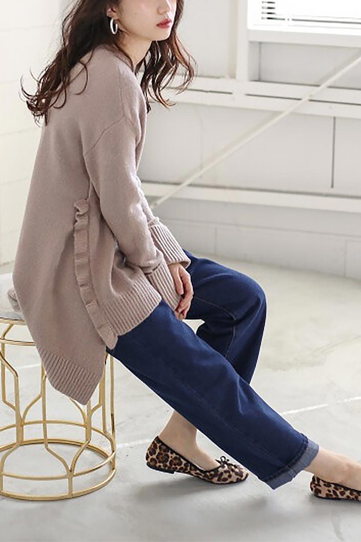 SideFrillKnitPullOverサイドフリル・ニットプルオーバー大人カジュアルに最適な海外ファッションのothers(その他インポートアイテム)のトップスやニット・セーター。キャッチーで可愛いフリルがアイコニックな雰囲気たっぷりのニットトップス。起毛素材のニットが優しい雰囲気で肌触りも◎袖口のリブの折り返し、サイドの大胆なスリット、フリルと可愛さがぎゅっと詰まったレディーライクな1枚です。/main-27