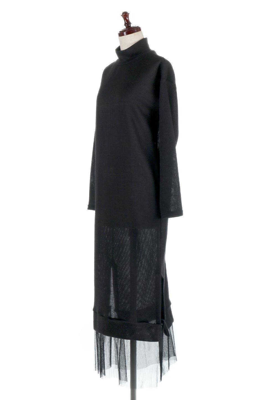SideSlitTulleHemDressチュールプリーツ・ドッキングワンピース大人カジュアルに最適な海外ファッションのothers(その他インポートアイテム)のワンピースやマキシワンピース。透け感のアルチュールが可愛いロングワンピース。立体感のあるワッフル素材との組み合わせが人気のアイテムです。/main-1