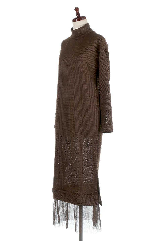 SideSlitTulleHemDressチュールプリーツ・ドッキングワンピース大人カジュアルに最適な海外ファッションのothers(その他インポートアイテム)のワンピースやマキシワンピース。透け感のアルチュールが可愛いロングワンピース。立体感のあるワッフル素材との組み合わせが人気のアイテムです。/main-11