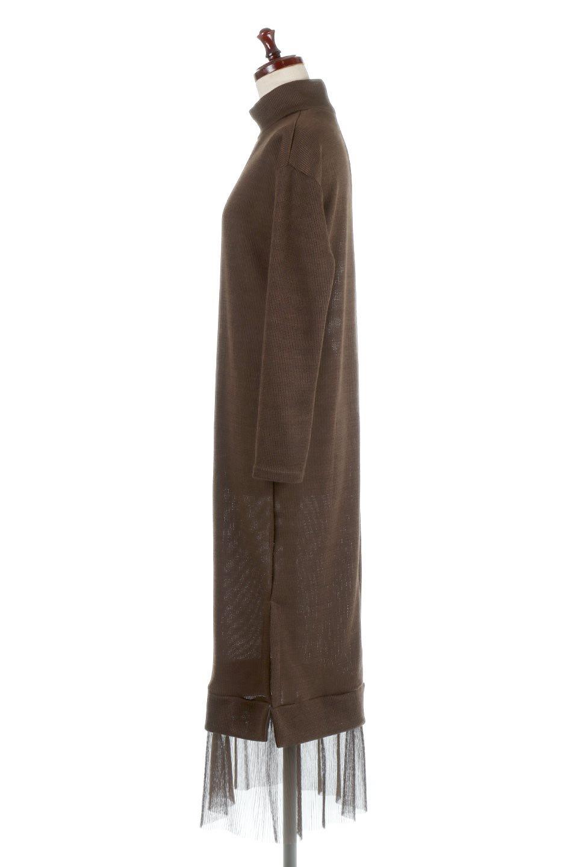 SideSlitTulleHemDressチュールプリーツ・ドッキングワンピース大人カジュアルに最適な海外ファッションのothers(その他インポートアイテム)のワンピースやマキシワンピース。透け感のアルチュールが可愛いロングワンピース。立体感のあるワッフル素材との組み合わせが人気のアイテムです。/main-12