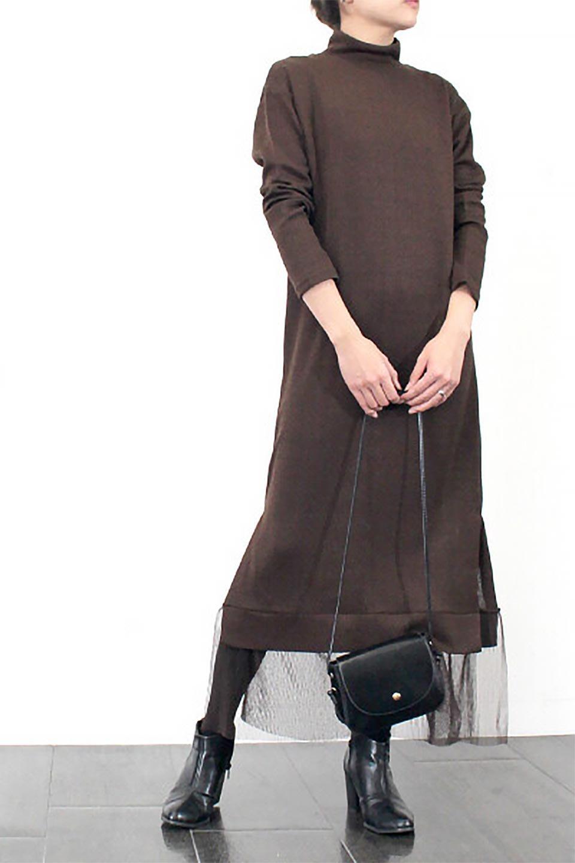 SideSlitTulleHemDressチュールプリーツ・ドッキングワンピース大人カジュアルに最適な海外ファッションのothers(その他インポートアイテム)のワンピースやマキシワンピース。透け感のアルチュールが可愛いロングワンピース。立体感のあるワッフル素材との組み合わせが人気のアイテムです。/main-28