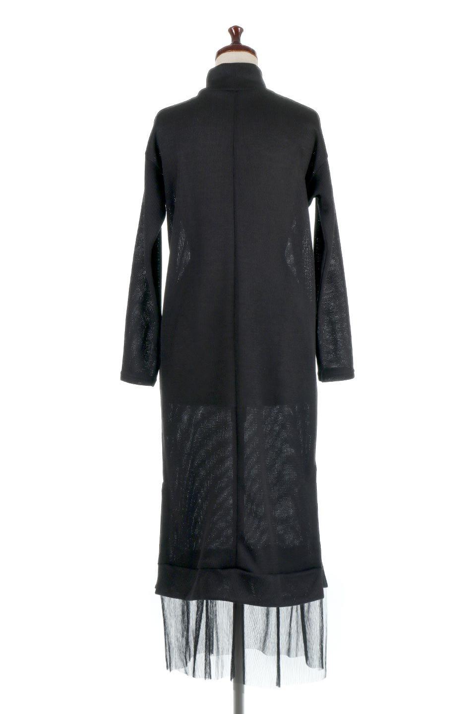 SideSlitTulleHemDressチュールプリーツ・ドッキングワンピース大人カジュアルに最適な海外ファッションのothers(その他インポートアイテム)のワンピースやマキシワンピース。透け感のアルチュールが可愛いロングワンピース。立体感のあるワッフル素材との組み合わせが人気のアイテムです。/main-4