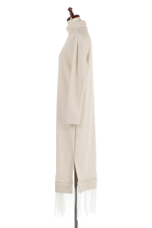 SideSlitTulleHemDressチュールプリーツ・ドッキングワンピース大人カジュアルに最適な海外ファッションのothers(その他インポートアイテム)のワンピースやマキシワンピース。透け感のアルチュールが可愛いロングワンピース。立体感のあるワッフル素材との組み合わせが人気のアイテムです。/main-7