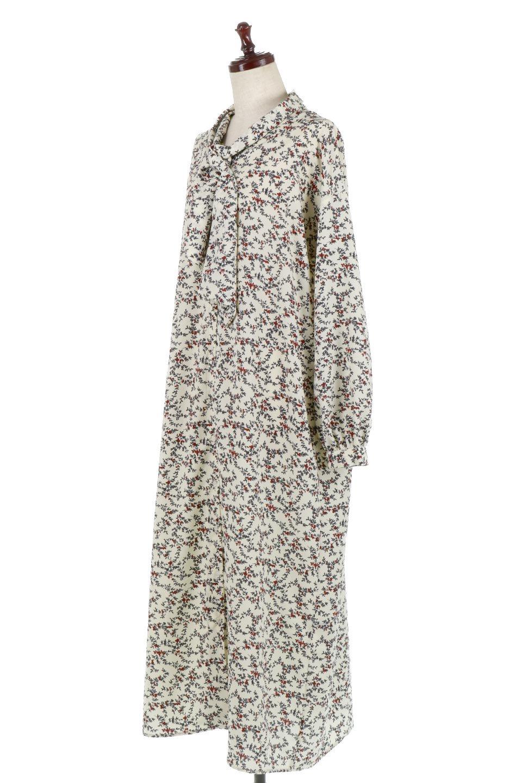 FloralPatternRibbonDressボウタイ付き・2Way花柄ワンピース大人カジュアルに最適な海外ファッションのothers(その他インポートアイテム)のワンピースやマキシワンピース。首元のリボンがアクセントのゆったりワンピース。前後どちらでも着用できる2Wayタイプ。/main-1