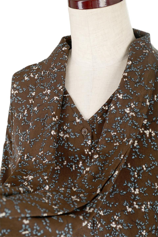 FloralPatternRibbonDressボウタイ付き・2Way花柄ワンピース大人カジュアルに最適な海外ファッションのothers(その他インポートアイテム)のワンピースやマキシワンピース。首元のリボンがアクセントのゆったりワンピース。前後どちらでも着用できる2Wayタイプ。/main-18
