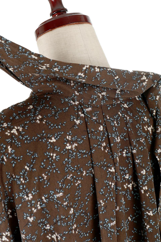 FloralPatternRibbonDressボウタイ付き・2Way花柄ワンピース大人カジュアルに最適な海外ファッションのothers(その他インポートアイテム)のワンピースやマキシワンピース。首元のリボンがアクセントのゆったりワンピース。前後どちらでも着用できる2Wayタイプ。/main-19