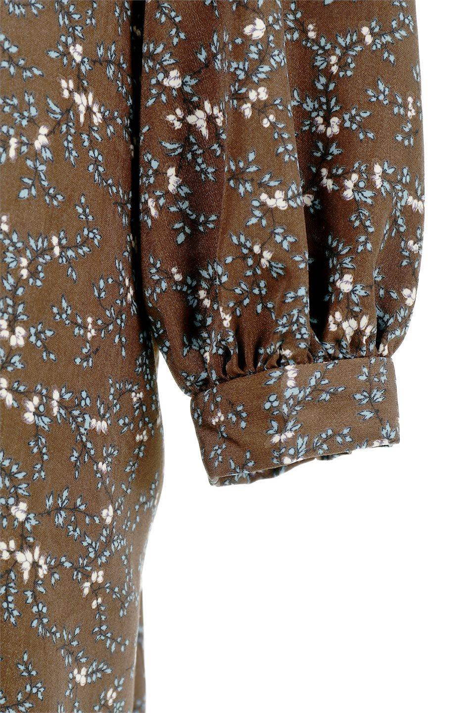 FloralPatternRibbonDressボウタイ付き・2Way花柄ワンピース大人カジュアルに最適な海外ファッションのothers(その他インポートアイテム)のワンピースやマキシワンピース。首元のリボンがアクセントのゆったりワンピース。前後どちらでも着用できる2Wayタイプ。/main-23