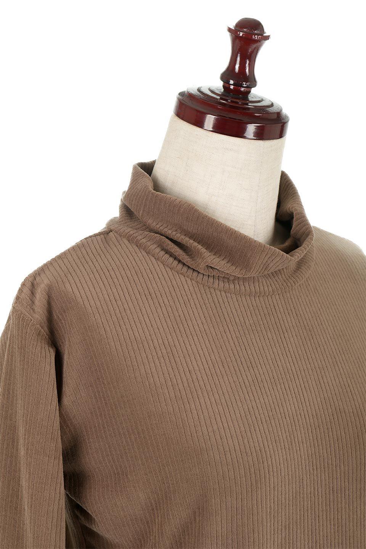 VelorRibTurtleNeckTopベロアリブ・タートルネックトップス大人カジュアルに最適な海外ファッションのothers(その他インポートアイテム)のトップスやカットソー。優しい光沢のベロアリブ素材を使用したトップス。オフタール風の緩いネックが可愛いアイテムです。/main-21