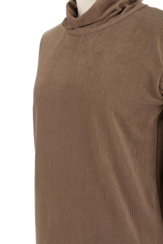 VelorRibTurtleNeckTopベロアリブ・タートルネックトップス大人カジュアルに最適な海外ファッションのothers(その他インポートアイテム)のトップスやカットソー。優しい光沢のベロアリブ素材を使用したトップス。オフタール風の緩いネックが可愛いアイテムです。/main-22