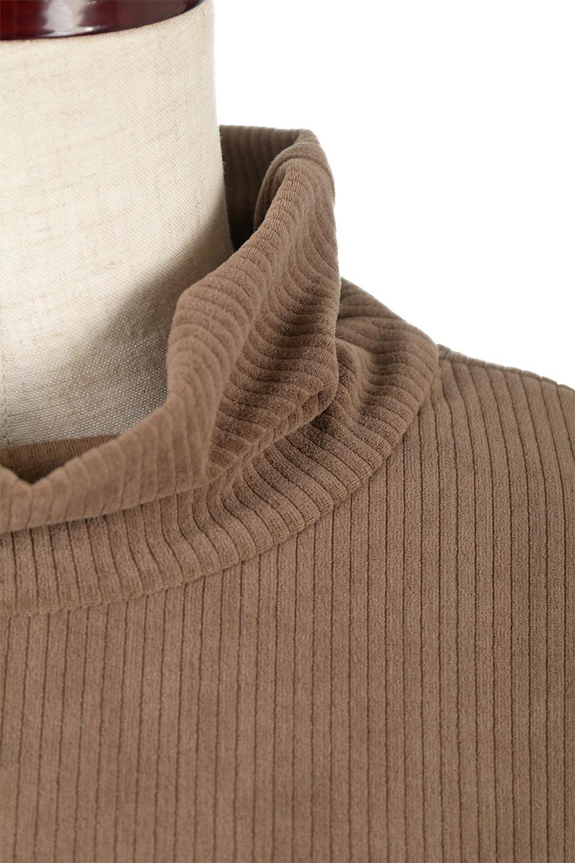 VelorRibTurtleNeckTopベロアリブ・タートルネックトップス大人カジュアルに最適な海外ファッションのothers(その他インポートアイテム)のトップスやカットソー。優しい光沢のベロアリブ素材を使用したトップス。オフタール風の緩いネックが可愛いアイテムです。/main-24