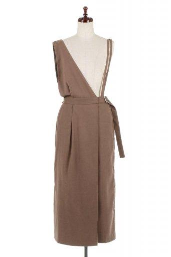 海外ファッションや大人カジュアルに最適なインポートセレクトアイテムのEco Suede 2 Way Jumper Dress フェイクスウェード・2Wayジャンパースカート