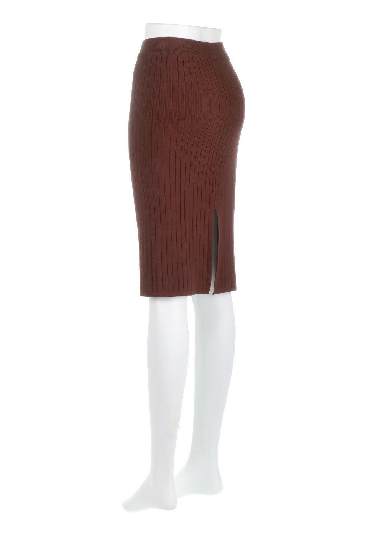 RibKnittedPencilSkirt(Short)リブニット・ペンシルスカート大人カジュアルに最適な海外ファッションのothers(その他インポートアイテム)のボトムやスカート。スタイルがよく見えると大人気のリブニット・ペンシルスカート。窮屈過ぎないフィット感で下半身を引き締めてくれる足長スカートです。/main-3