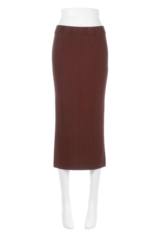 RibKnittedPencilSkirt(Long)リブニット・ペンシルスカート大人カジュアルに最適な海外ファッションのothers(その他インポートアイテム)のボトムやスカート。スタイルがよく見えると大人気のリブニット・ペンシルスカート。窮屈過ぎないフィット感で下半身を引き締めてくれる足長スカートです。/main-10