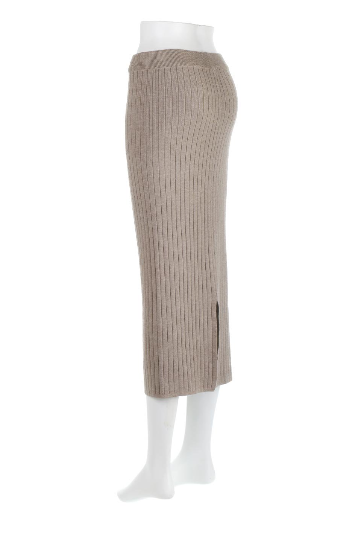 RibKnittedPencilSkirt(Long)リブニット・ペンシルスカート大人カジュアルに最適な海外ファッションのothers(その他インポートアイテム)のボトムやスカート。スタイルがよく見えると大人気のリブニット・ペンシルスカート。窮屈過ぎないフィット感で下半身を引き締めてくれる足長スカートです。/main-3