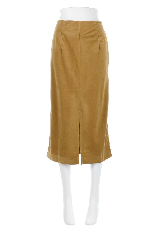 VelourSemiTightSkirtベロア生地・セミタイトスカート大人カジュアルに最適な海外ファッションのothers(その他インポートアイテム)のボトムやスカート。控えめな光沢が上品なベロアスカート。合わせやすい秋冬カラーのバリエーションで色違いで欲しくなります。