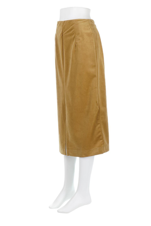 VelourSemiTightSkirtベロア生地・セミタイトスカート大人カジュアルに最適な海外ファッションのothers(その他インポートアイテム)のボトムやスカート。控えめな光沢が上品なベロアスカート。合わせやすい秋冬カラーのバリエーションで色違いで欲しくなります。/main-1