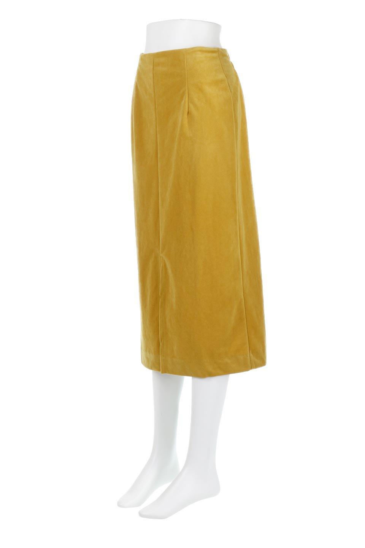 VelourSemiTightSkirtベロア生地・セミタイトスカート大人カジュアルに最適な海外ファッションのothers(その他インポートアイテム)のボトムやスカート。控えめな光沢が上品なベロアスカート。合わせやすい秋冬カラーのバリエーションで色違いで欲しくなります。/main-16