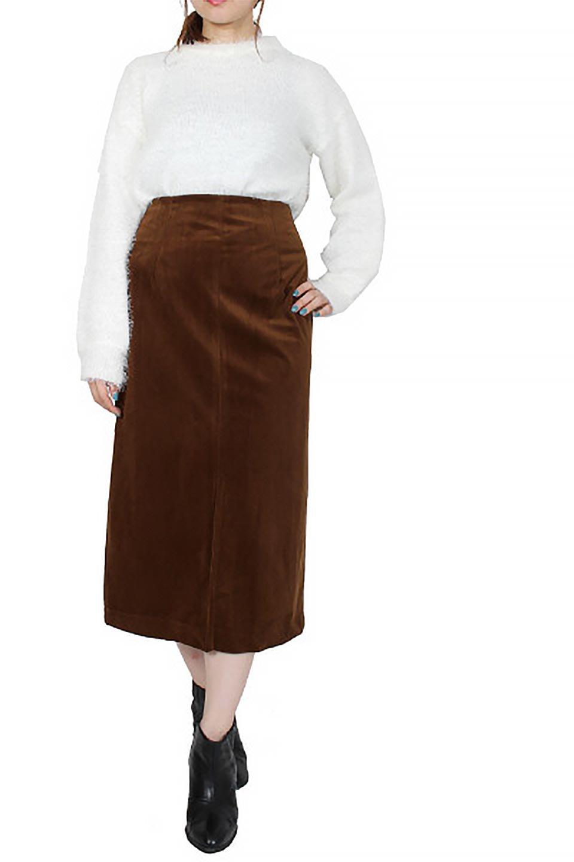 VelourSemiTightSkirtベロア生地・セミタイトスカート大人カジュアルに最適な海外ファッションのothers(その他インポートアイテム)のボトムやスカート。控えめな光沢が上品なベロアスカート。合わせやすい秋冬カラーのバリエーションで色違いで欲しくなります。/main-31