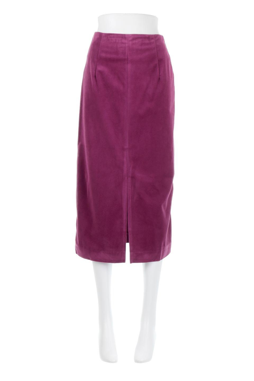 VelourSemiTightSkirtベロア生地・セミタイトスカート大人カジュアルに最適な海外ファッションのothers(その他インポートアイテム)のボトムやスカート。控えめな光沢が上品なベロアスカート。合わせやすい秋冬カラーのバリエーションで色違いで欲しくなります。/main-5