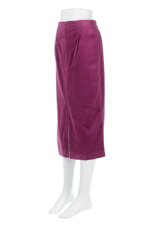 VelourSemiTightSkirtベロア生地・セミタイトスカート大人カジュアルに最適な海外ファッションのothers(その他インポートアイテム)のボトムやスカート。控えめな光沢が上品なベロアスカート。合わせやすい秋冬カラーのバリエーションで色違いで欲しくなります。/main-6