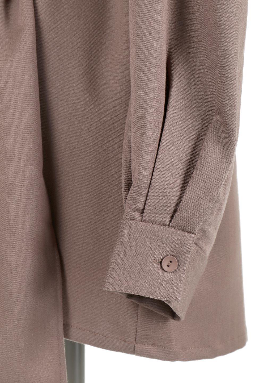 WaistTiedTwistBackBlouseウエストリボン・ツイストバックブラウス大人カジュアルに最適な海外ファッションのothers(その他インポートアイテム)のトップスやカットソー。背中からのびるリボンが可愛い長袖ブラウス。フロントのリボンはもちろん、バックのネジネジも可愛いデザインです。/main-15