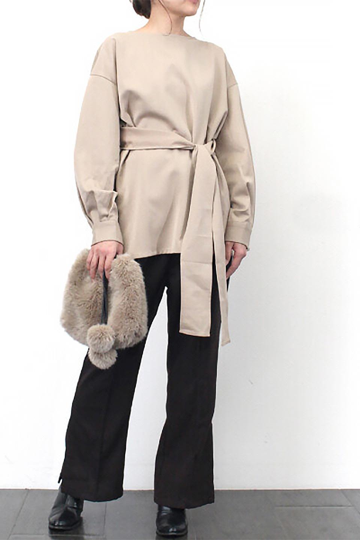 WaistTiedTwistBackBlouseウエストリボン・ツイストバックブラウス大人カジュアルに最適な海外ファッションのothers(その他インポートアイテム)のトップスやカットソー。背中からのびるリボンが可愛い長袖ブラウス。フロントのリボンはもちろん、バックのネジネジも可愛いデザインです。/main-20