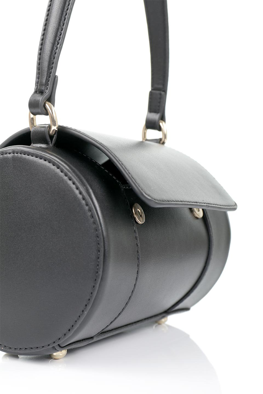 meliebiancoのBrooke(Black)ワンハンドル・筒型ミニバッグ/海外ファッション好きにオススメのインポートバッグとかばん、MelieBianco(メリービアンコ)のバッグやハンドバッグ。コロンと可愛い樽型のミニハンドバッグ。芯入りのビーガンレザーなので綺麗な筒状の形は型崩れの心配なし。/main-12