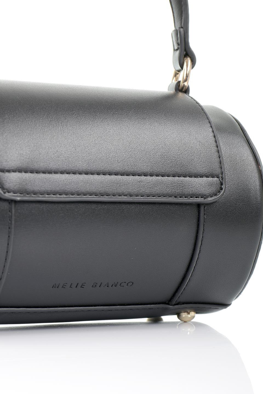 meliebiancoのBrooke(Black)ワンハンドル・筒型ミニバッグ/海外ファッション好きにオススメのインポートバッグとかばん、MelieBianco(メリービアンコ)のバッグやハンドバッグ。コロンと可愛い樽型のミニハンドバッグ。芯入りのビーガンレザーなので綺麗な筒状の形は型崩れの心配なし。/main-5
