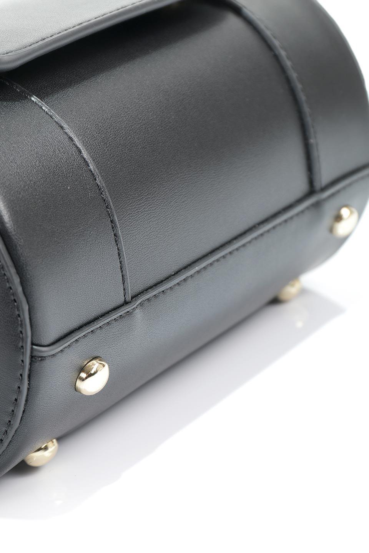 meliebiancoのBrooke(Black)ワンハンドル・筒型ミニバッグ/海外ファッション好きにオススメのインポートバッグとかばん、MelieBianco(メリービアンコ)のバッグやハンドバッグ。コロンと可愛い樽型のミニハンドバッグ。芯入りのビーガンレザーなので綺麗な筒状の形は型崩れの心配なし。/main-7