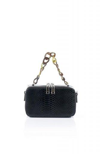 海外ファッションや大人カジュアルのためのインポートバッグ、かばんmelie bianco(メリービアンコ)のDemi (Black) スクエア・ミニショルダーバッグ