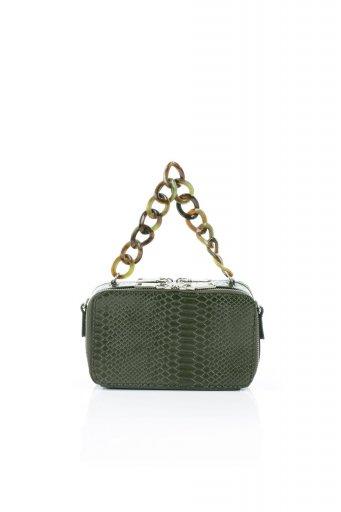 海外ファッションや大人カジュアルのためのインポートバッグ、かばんmelie bianco(メリービアンコ)のDemi (Olive) スクエア・ミニショルダーバッグ