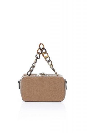 海外ファッションや大人カジュアルのためのインポートバッグ、かばんmelie bianco(メリービアンコ)のDemi (Taupe) スクエア・ミニショルダーバッグ