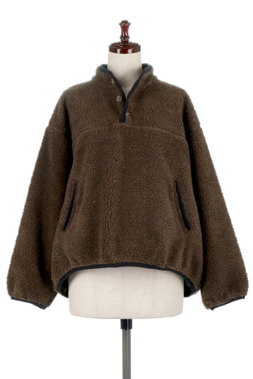 PipingDetailBoaFleeceP.O.パイピング入り・ボアフリース大人カジュアルに最適な海外ファッションのothers(その他インポートアイテム)のトップスやカットソー。今季大人気のたっぷりサイズのボアフリース。難しいことを考えずにさっと羽織ってパッと可愛くなるお気楽アイテムです。