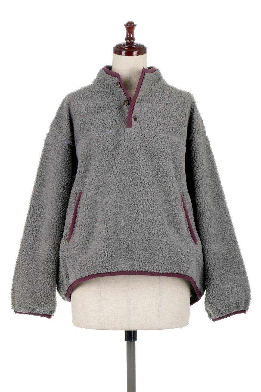 PipingDetailBoaFleeceP.O.パイピング入り・ボアフリース大人カジュアルに最適な海外ファッションのothers(その他インポートアイテム)のトップスやカットソー。今季大人気のたっぷりサイズのボアフリース。難しいことを考えずにさっと羽織ってパッと可愛くなるお気楽アイテムです。/main-10