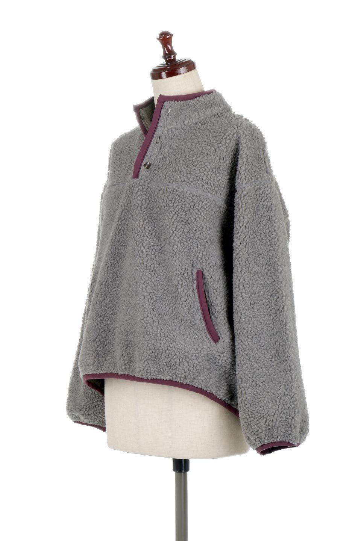PipingDetailBoaFleeceP.O.パイピング入り・ボアフリース大人カジュアルに最適な海外ファッションのothers(その他インポートアイテム)のトップスやカットソー。今季大人気のたっぷりサイズのボアフリース。難しいことを考えずにさっと羽織ってパッと可愛くなるお気楽アイテムです。/main-11