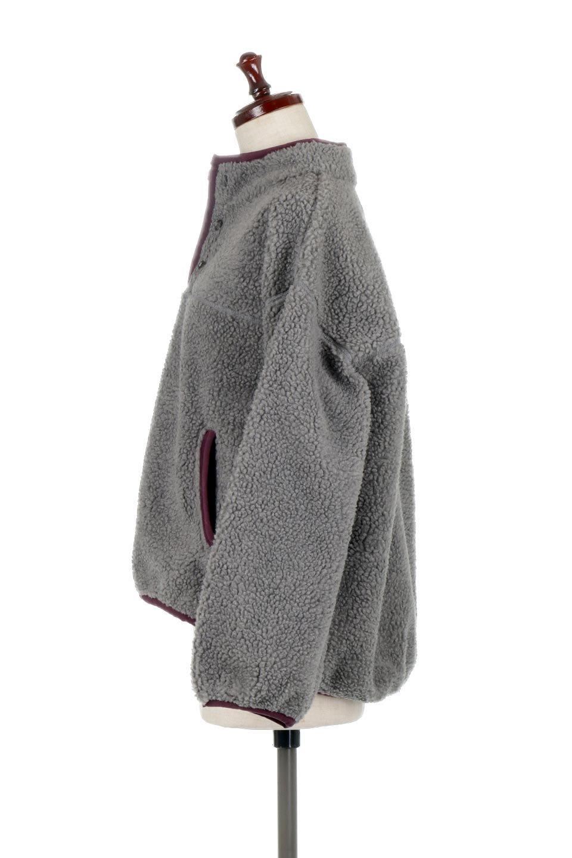 PipingDetailBoaFleeceP.O.パイピング入り・ボアフリース大人カジュアルに最適な海外ファッションのothers(その他インポートアイテム)のトップスやカットソー。今季大人気のたっぷりサイズのボアフリース。難しいことを考えずにさっと羽織ってパッと可愛くなるお気楽アイテムです。/main-12